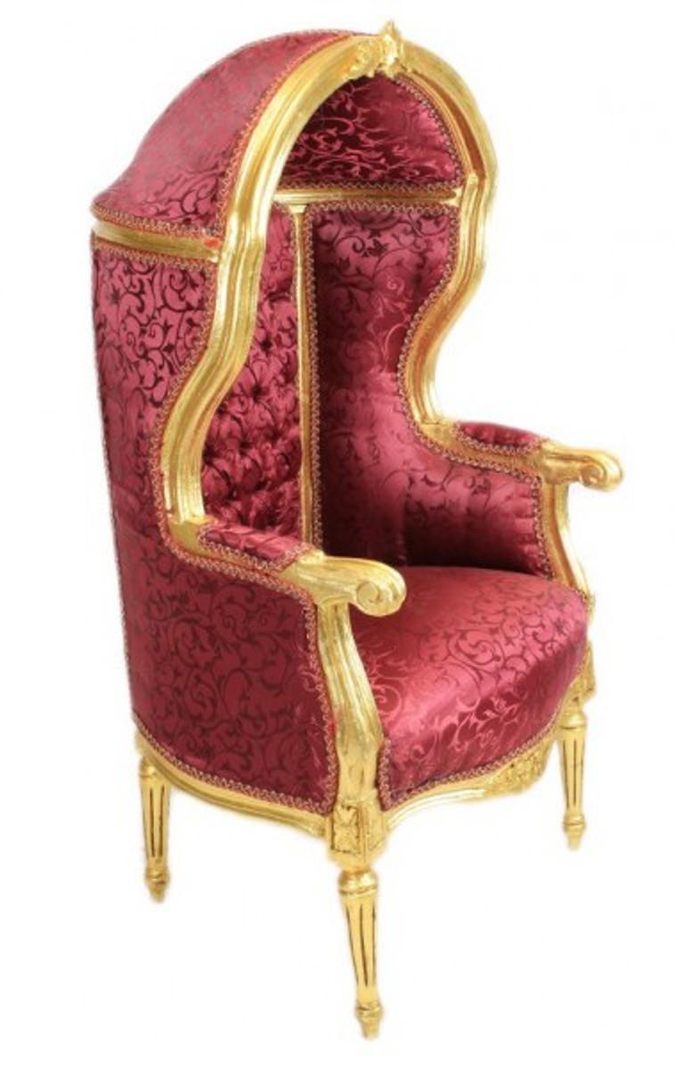 casa padrino barock kinder thron sessel bordeaux muster gold ballon sessel barock m bel casa. Black Bedroom Furniture Sets. Home Design Ideas