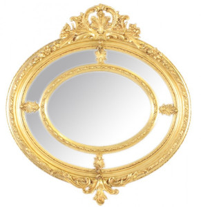 casa padrino barock wandspiegel rund gold 130 x 130 cm edel prunkvoll goldener spiegel. Black Bedroom Furniture Sets. Home Design Ideas