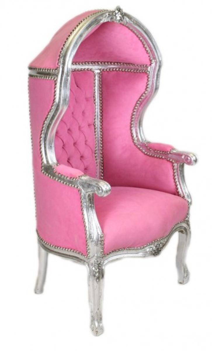 casa padrino barock kinder thron sessel rosa silber ballon sessel barock m bel casa padrino. Black Bedroom Furniture Sets. Home Design Ideas