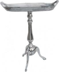 Casa Padrino aluminum table height: 59 cm, width 48 cm, depth 28 cm - table - aluminum finish - Vintage Style