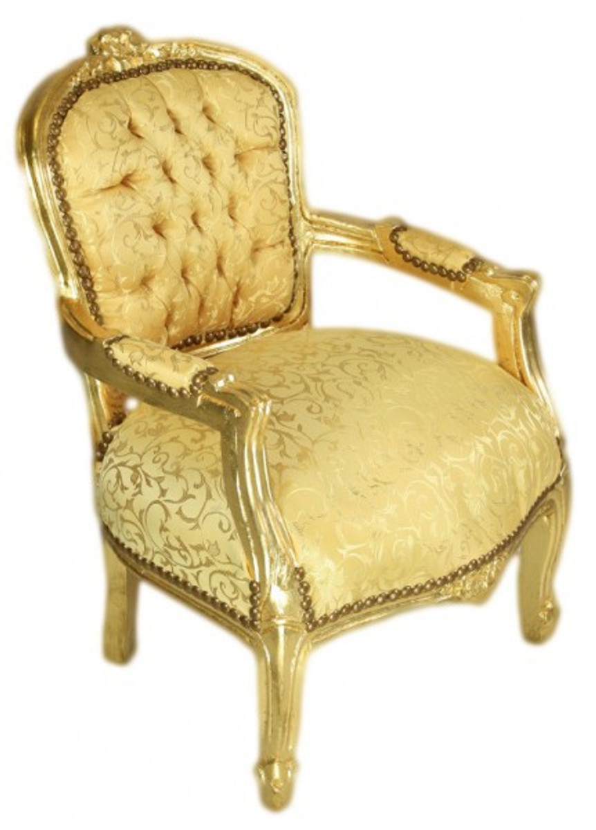 casa padrino barock kinder stuhl gold muster gold armlehnstuhl antik stil m bel casa. Black Bedroom Furniture Sets. Home Design Ideas