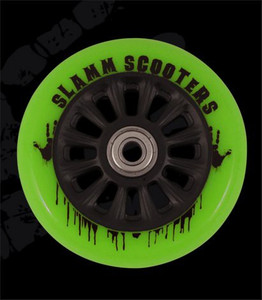 Slamm Professional Scooter wheel NY Core Green 110mm / 88A (1 roll) incl Koston Abec 7 Bearings