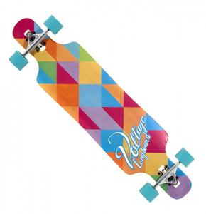Voltage Longboard Drop Through Komplettboard Multi 39 x 9.5 inch  - Complete - Special Edition mit Koston Kugellagern – Bild 1