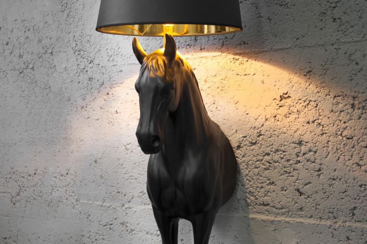 Casa Padrino Luxury Floor Lamp U0026quot;horseu0026quot; Black Height 130 Cm, Lamp