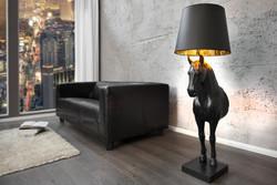 """Casa Padrino Luxus Stehleuchte """"Pferd"""" Schwarz Höhe 130 cm, Leuchte - Luxury Collection"""