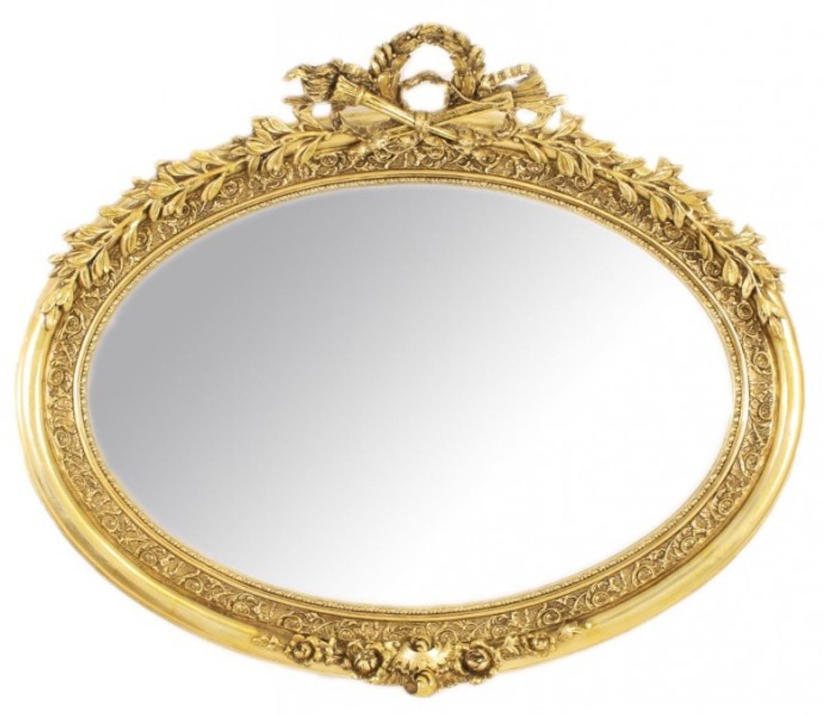 casa padrino luxus barock wandspiegel oval gold massiv. Black Bedroom Furniture Sets. Home Design Ideas