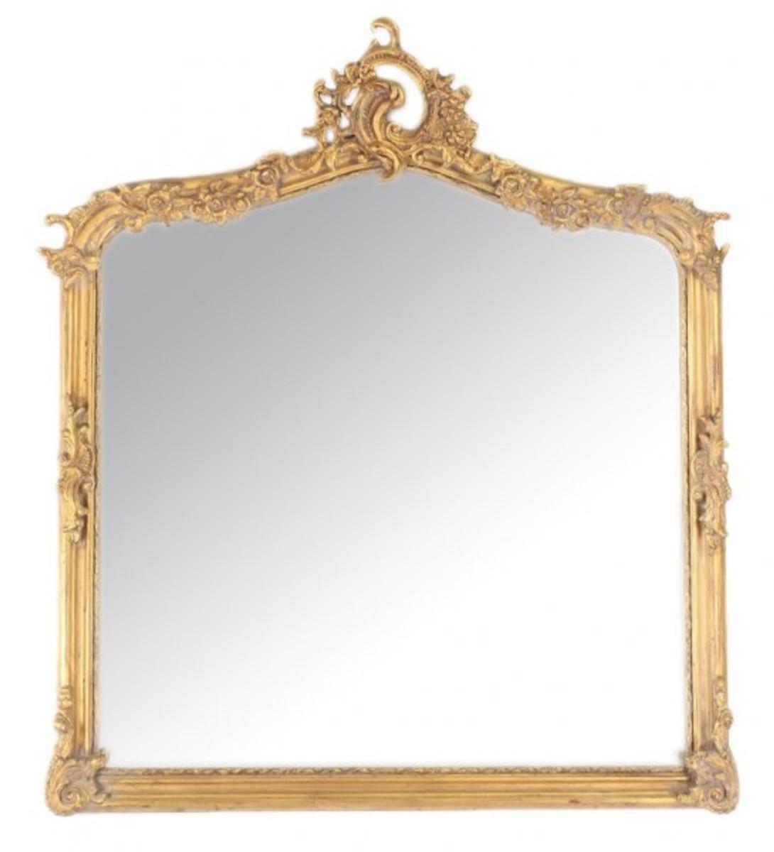 casa padrino barock wandspiegel antik gold italienischer antik stil 115 x 100 cm edel. Black Bedroom Furniture Sets. Home Design Ideas
