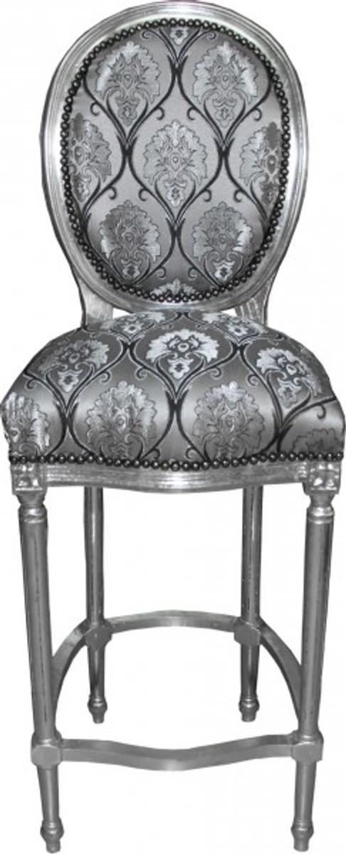 casa padrino baroque chair silver model silver high. Black Bedroom Furniture Sets. Home Design Ideas