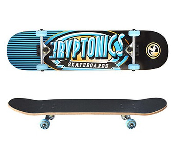 Kryptonics Skateboard Komplettboard Ray Gun Series Icy 7.5 x 31.0 inch - Special Edition mit Koston Kugellagern – Bild 1