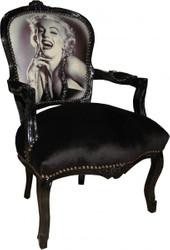 Casa Padrino Baroque Salon Chair Marilyn Monroe Mod1 - Limited Edition