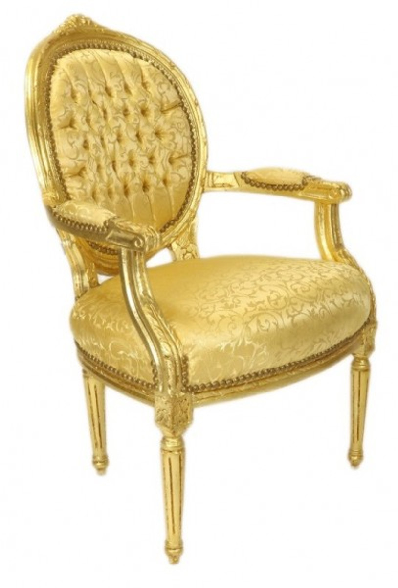casa padrino luxus barock medaillon salon stuhl gold muster gold m bel antik stil st hle. Black Bedroom Furniture Sets. Home Design Ideas
