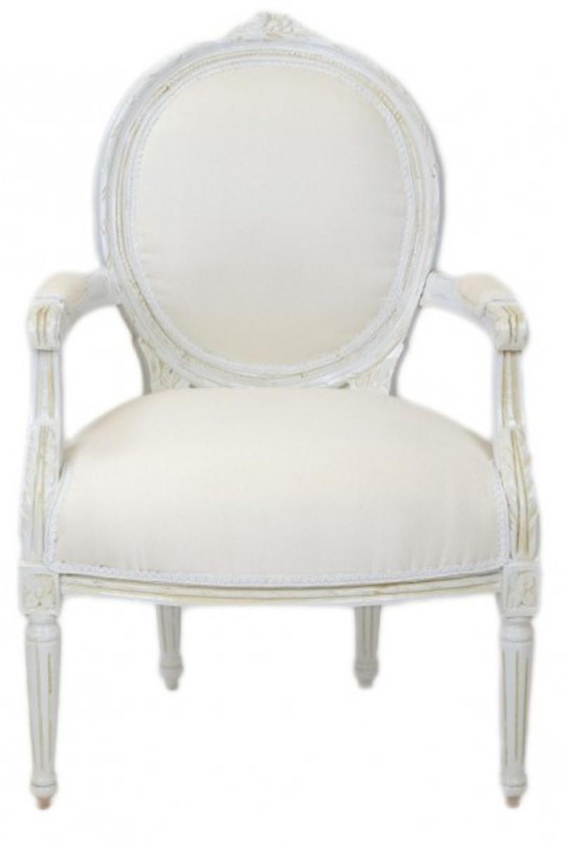 Casa padrino luxury baroque medallion salon chair antique for Barock stuhl
