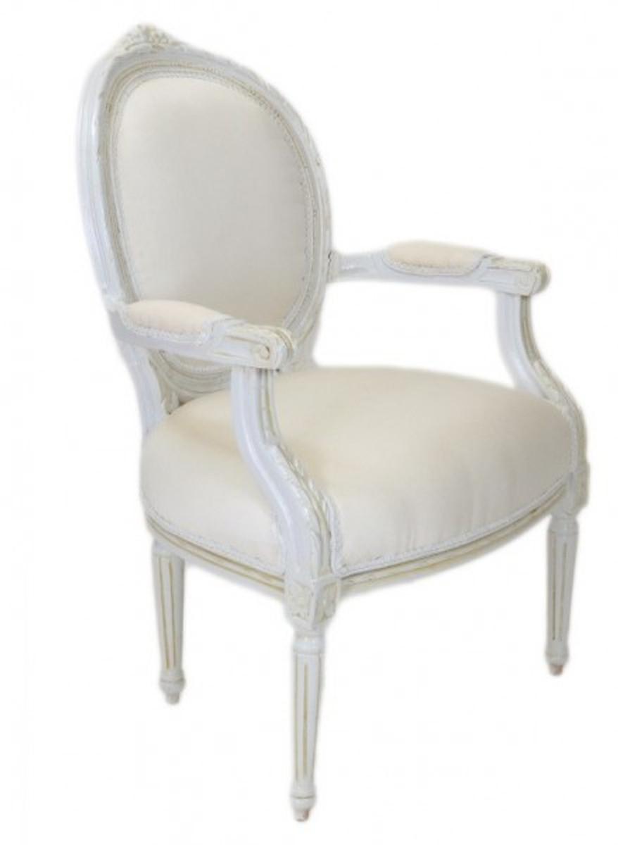casa padrino luxus barock medaillon salon stuhl antik wei. Black Bedroom Furniture Sets. Home Design Ideas