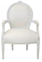 Casa Padrino luxury Baroque Medallion Salon Chair Antique White - furniture antique style