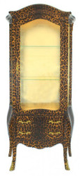 Casa Padrino Baroque showcase Leopard - display cabinet - Furniture cupboard