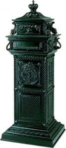 Casa Padrino luxury stand Mailbox Vintage Style Green Majestic Mailbox Mailbox - pillars mailbox