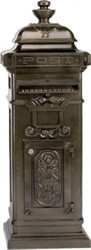 Casa Padrino Stand Mailbox Vintage Style Bronze Mailbox Mailbox Mod 4 - pillar mailbox - heavy version!