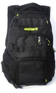 Koston Profi Skateboard Rucksack Schwarz - Backpack mit Boardcatcher und vielen Fächern – Bild 1