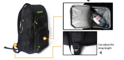 Koston Pro Skateboard Nackpack Black - Backpack with boardcatcher and many pockets – Bild 7