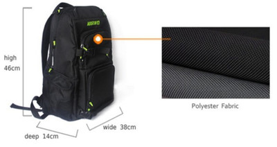 Koston Pro Skateboard Nackpack Black - Backpack with boardcatcher and many pockets – Bild 2