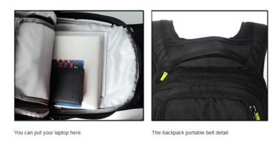 Koston Profi Skateboard Rucksack Schwarz - Backpack mit Boardcatcher und vielen Fächern – Bild 5
