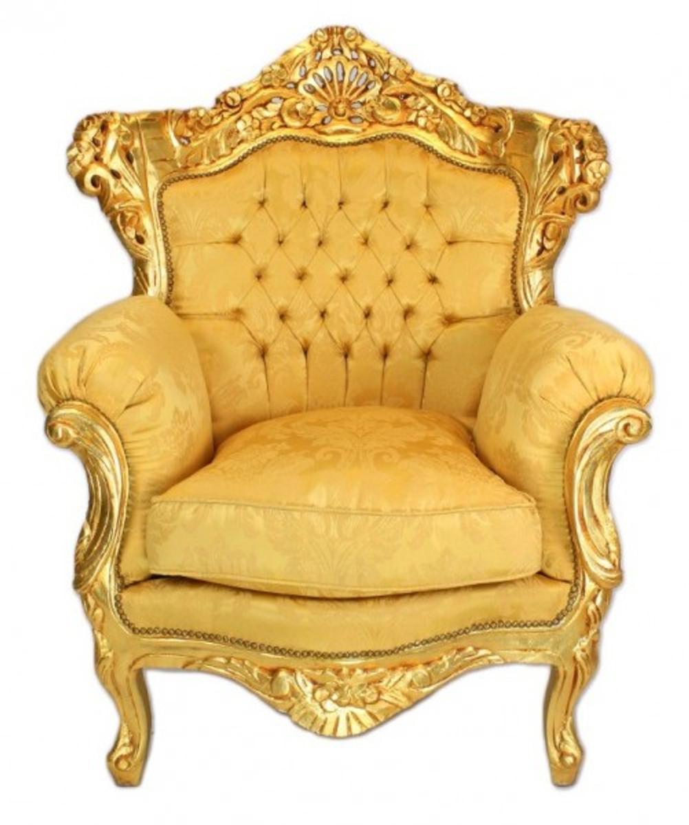 casa padrino baroque living set gold bouquet pattern. Black Bedroom Furniture Sets. Home Design Ideas