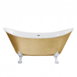 Casa Padrino Nouveau bath detached Gold model He-Lyd 1730mm - Freestanding Retro Antique Bathtub Baroque