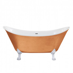 Casa Padrino Nouveau bath detached Copper look model He-Lyd 1730mm - Freestanding Retro Antique Bathtub Baroque