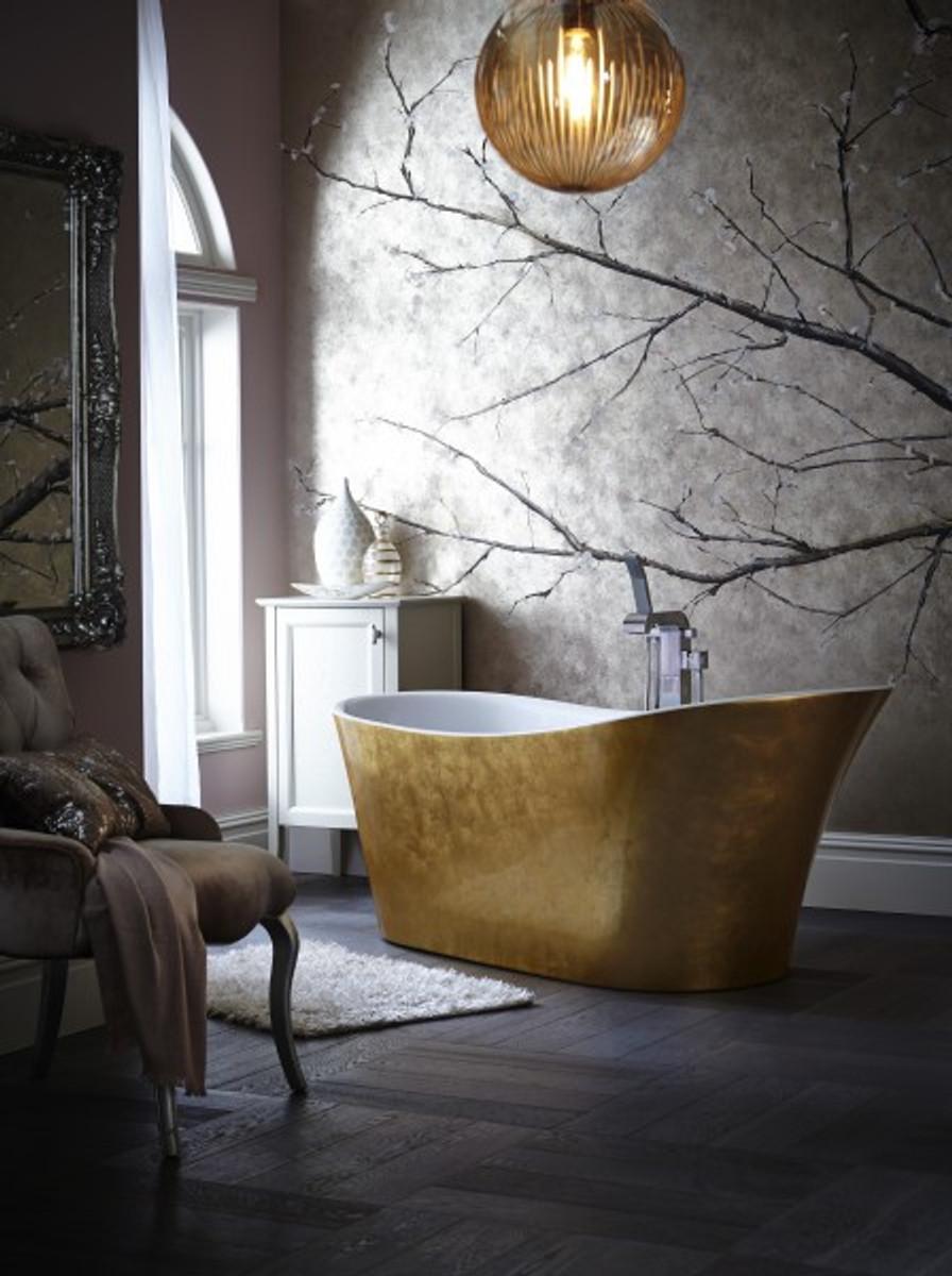 casa padrino art deco badewanne freistehend gold modell he hol 1710mm freistehende retro antik. Black Bedroom Furniture Sets. Home Design Ideas