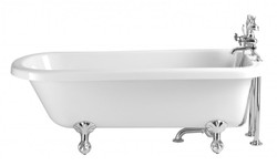 Casa Padrino Nouveau bath detached White Model Helper 1660mm - Freestanding Retro Antique Bathtub Baroque