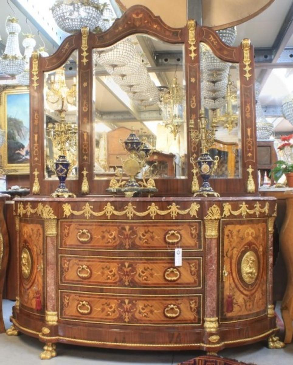 Casa Padrino Luxus Barock Schrank Mit Spiegelkonsole