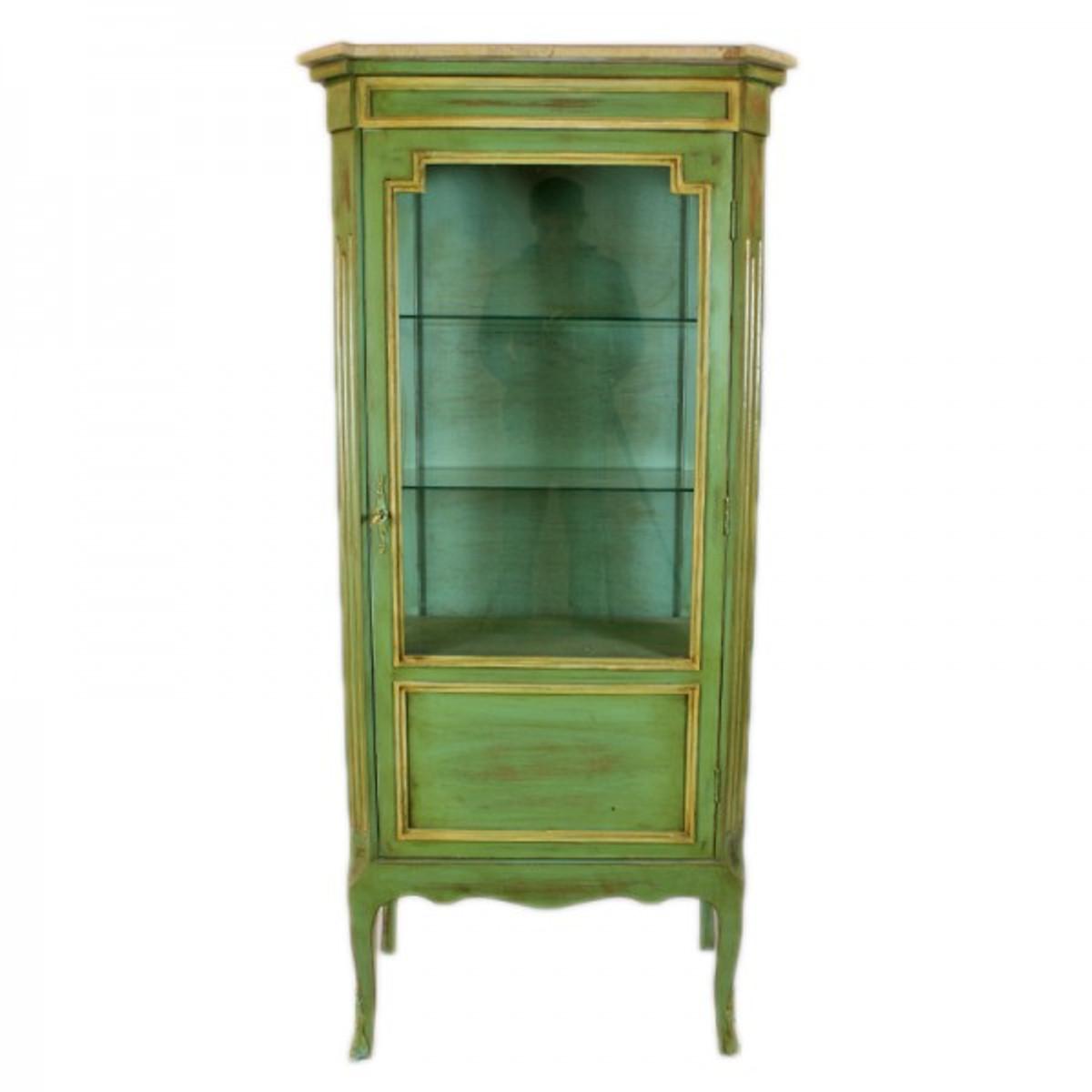 massivholzmobel wohnzimmerschrank, casa padrino barock vitrine antik stil grün / gold 160 cm, Design ideen