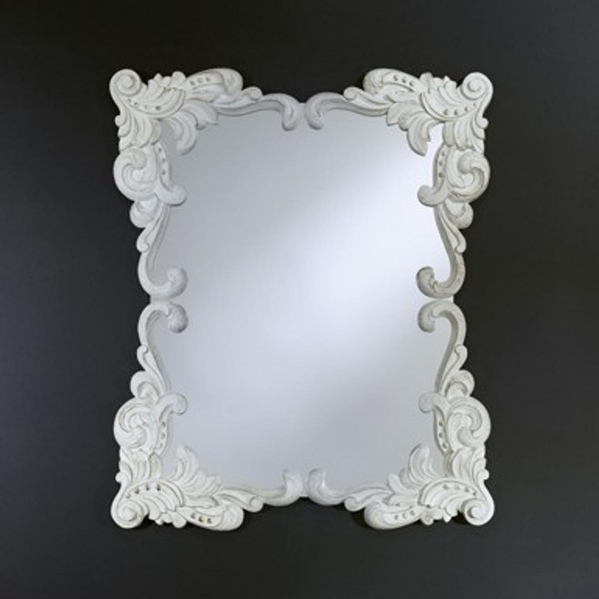 Casa Padrino Barock Wandspiegel Antik Stil Weiß 92 X 110 Cm   Barocker  Spiegel Antikweiß