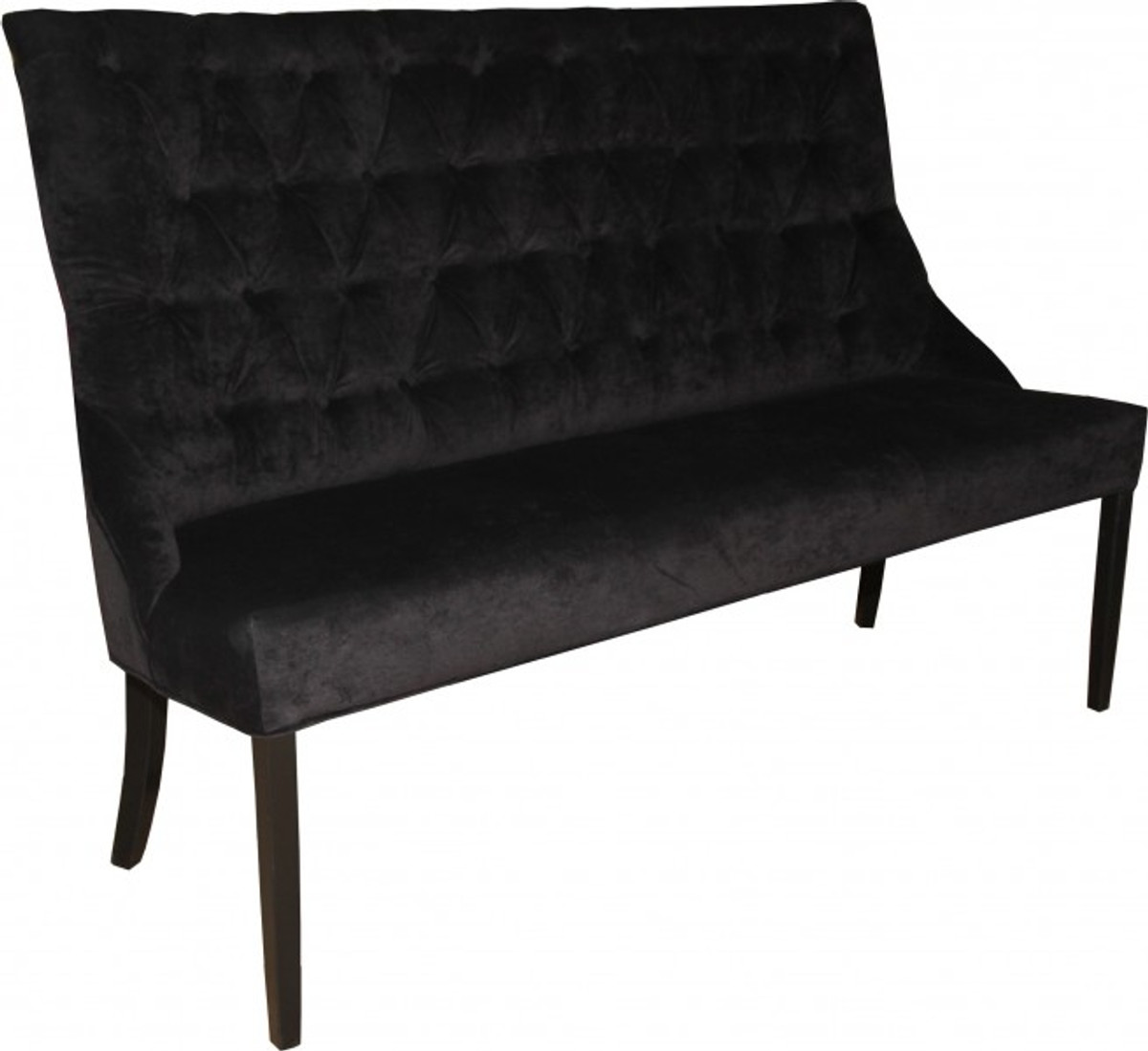 casa padrino chesterfield sitzbank sofa schwarz esszimmer bank b 155 cm h 108 cm t 70 cm. Black Bedroom Furniture Sets. Home Design Ideas