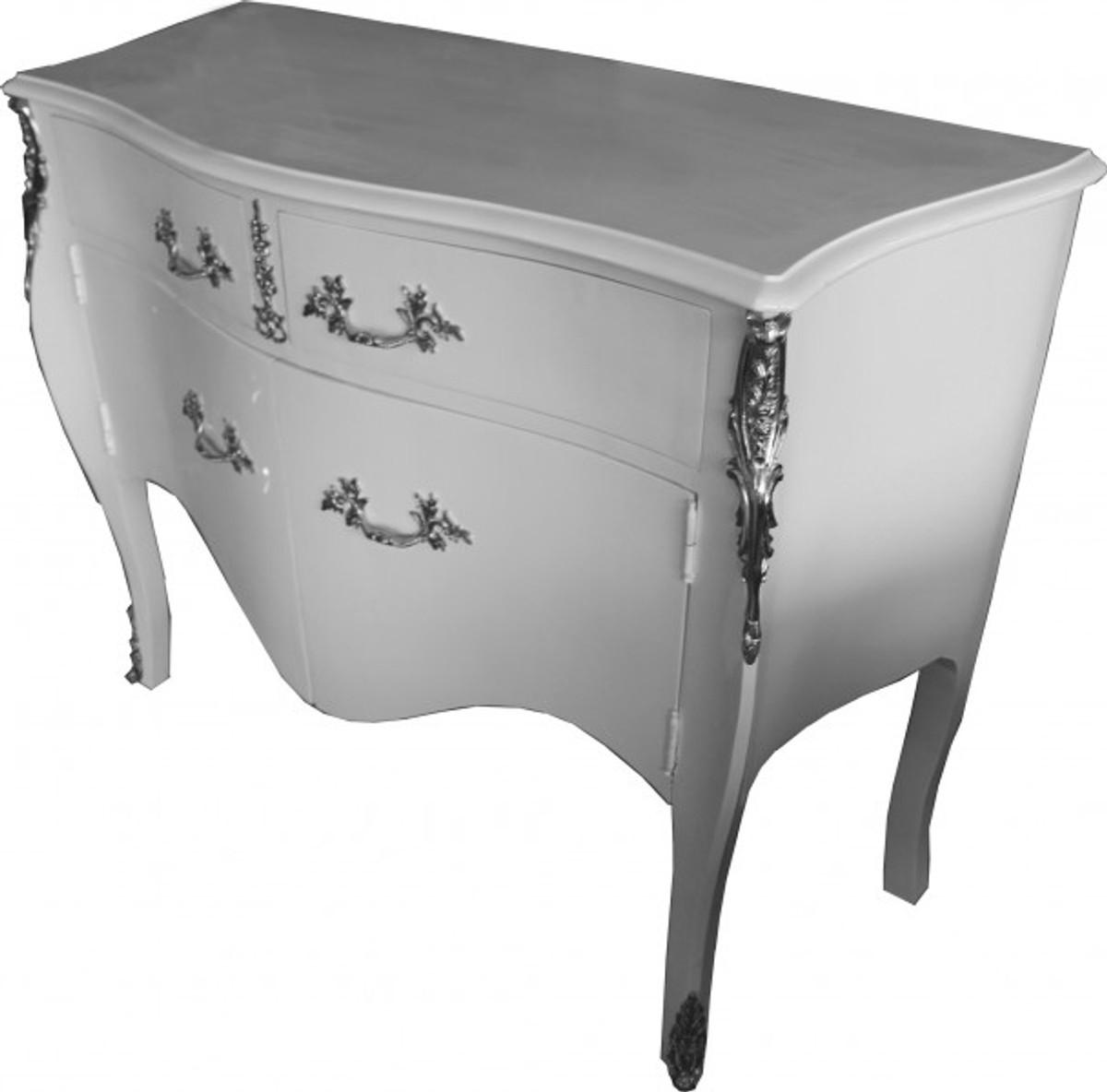casa padrino barock kommode wei mit 2 schubladen und 2 t ren 140 cm handgefertigt aus. Black Bedroom Furniture Sets. Home Design Ideas