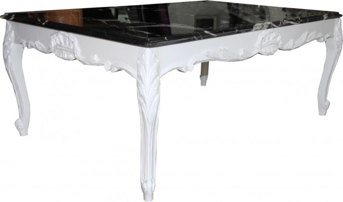 casa padrino barock couchtisch wei mit marmorplatte 120 x 80 cm limited edition couchtische. Black Bedroom Furniture Sets. Home Design Ideas