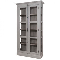 Casa Padrino Country House display case cupboard 109 x H 210 cm Dining Cupboard Antique Style