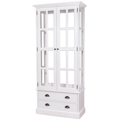 Casa Padrino Country House display case cupboard White 90 x H 200 cm - Dining Cupboard Antique Style Vitrine