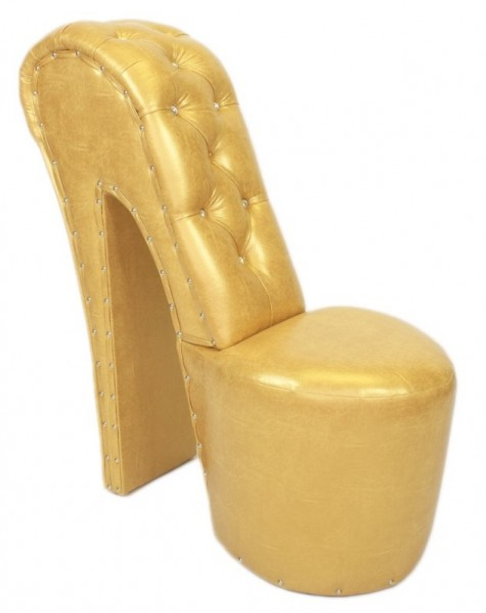 high heel sessel, casa padrino high heel sessel mit dekosteinen gold luxus design, Design ideen