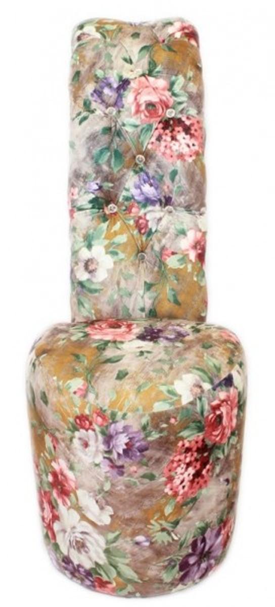 Casa Padrino High Heel Sessel Blumen Muster Luxus Design
