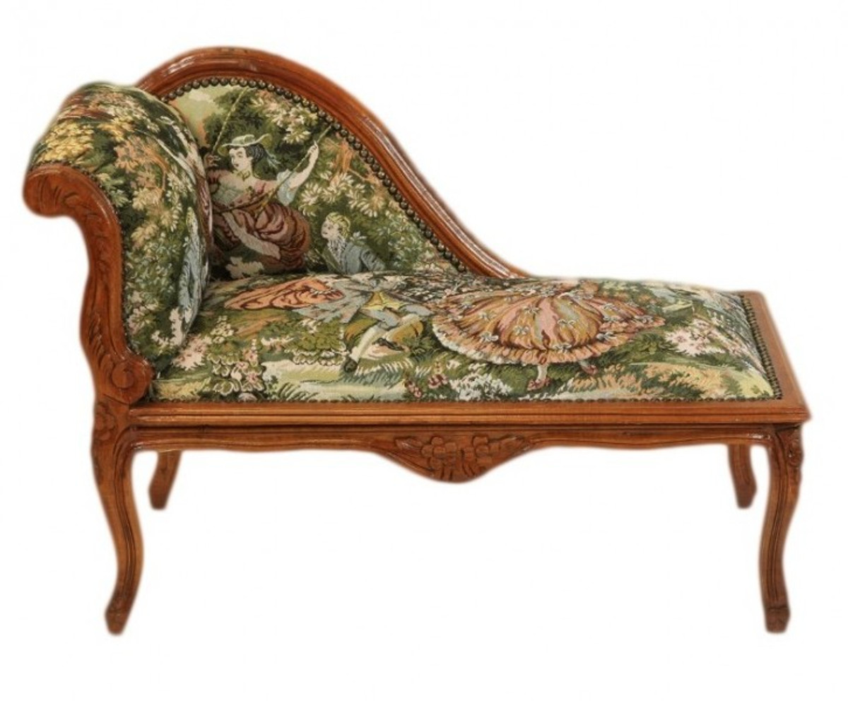 Casa padrino baroque children chaise tapestry pattern for Baroque furniture usa