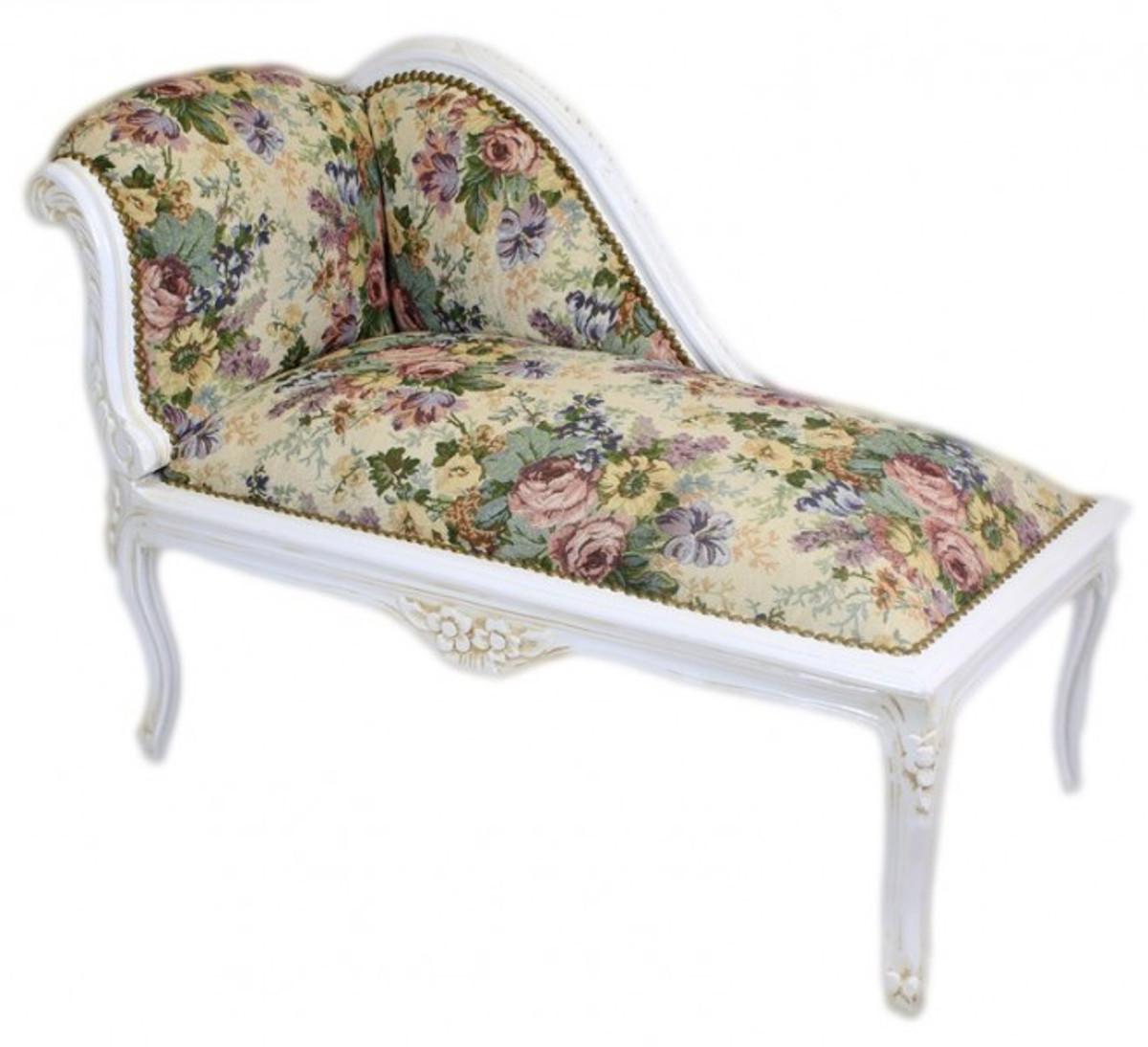 casa padrino barock kinder chaiselongue blumen muster antik weiss recamiere barock m bel. Black Bedroom Furniture Sets. Home Design Ideas