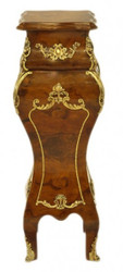 Casa Padrino Baroque column Mahogany / Gold - Side table - column H60 x W 25 x D 25 cm