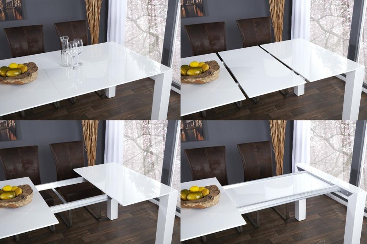 Esstisch ausziehbar modern weiss  Moderner Design Esstisch Weiß Hochglanz - Extra Lang - Ausziehbar ...