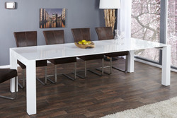 Contemporary Design Dining table white glossy - extra long - Extendible 180-260 cm of Casa Padrino - dining table