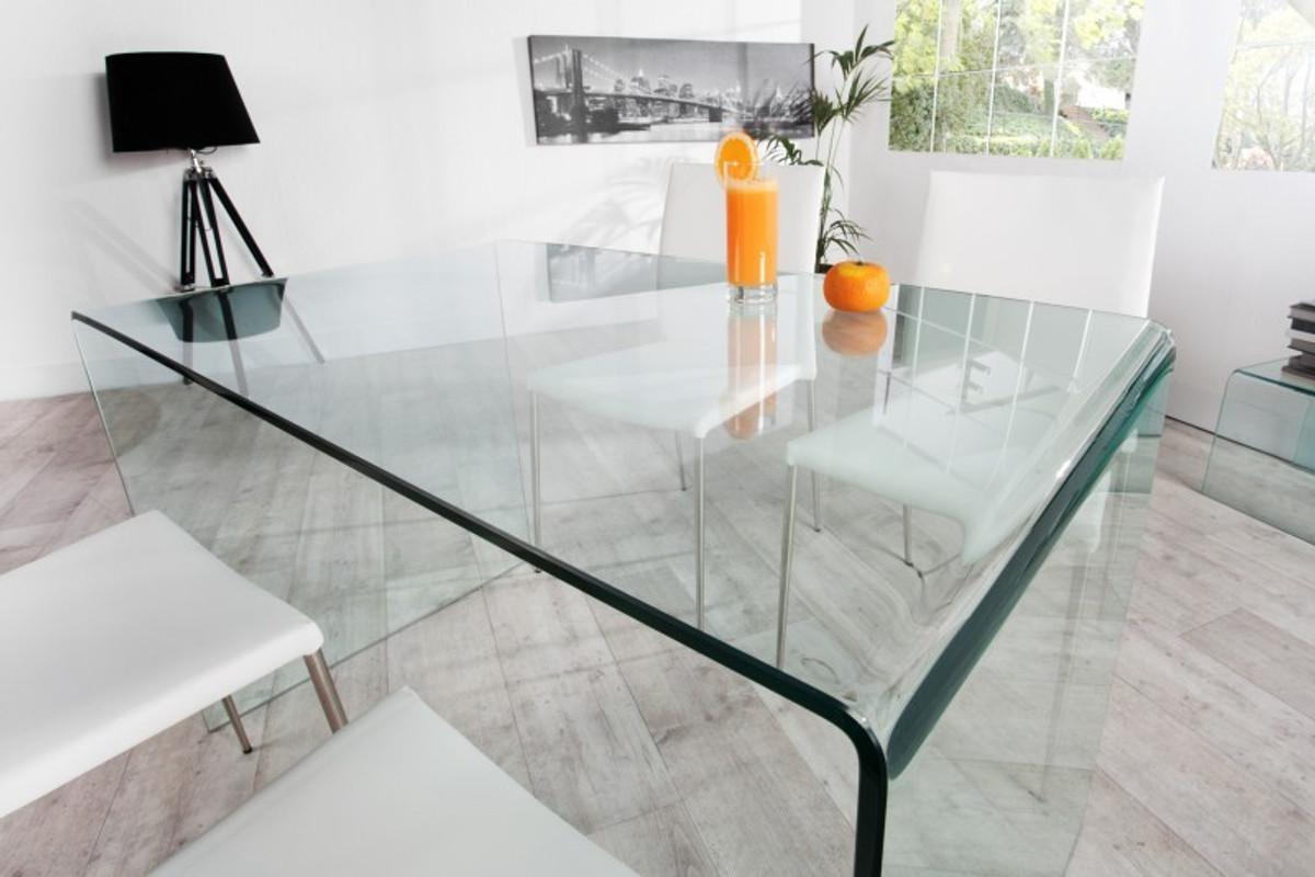 moderner design esstisch glas 120 cm ghost table von. Black Bedroom Furniture Sets. Home Design Ideas