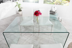 Contemporary Design Dining table glass 120 cm - Ghost Table - Casa Padrino - dining table - Desk