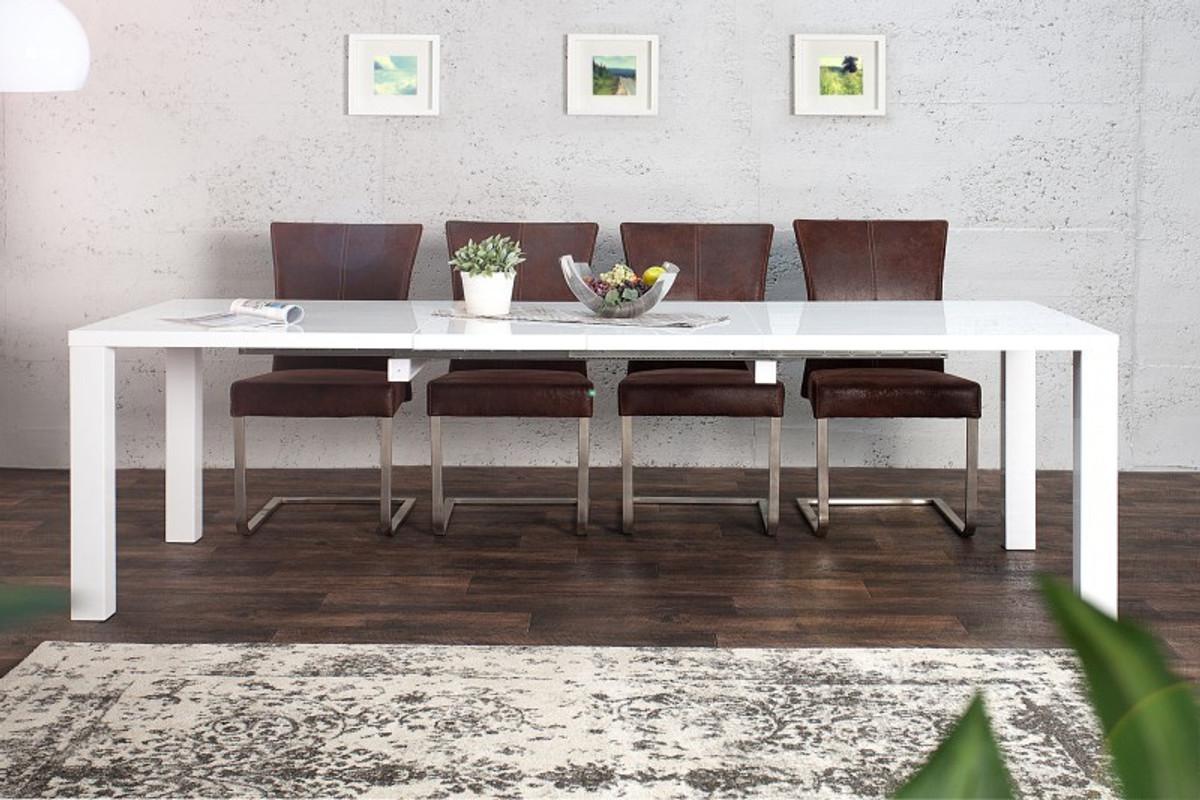 Moderner Design Esstisch Weiß Hochglanz - Ausziehbar 160 - 240 Cm ... Esstisch Barock Modern