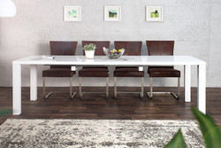 Contemporary Design table high gloss white - Extendible 160-240 cm of Casa Padrino - dining table