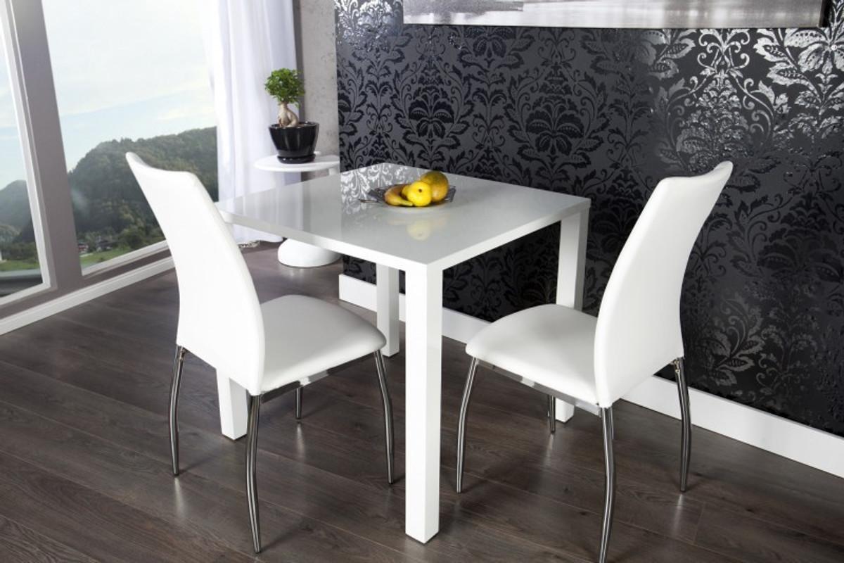 moderner design esstisch wei hochglanz 80 x 80 cm von casa padrino esszimmer tisch esstische. Black Bedroom Furniture Sets. Home Design Ideas